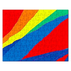 Colorful abstract design Rectangular Jigsaw Puzzl
