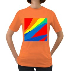 Colorful abstract design Women s Dark T-Shirt