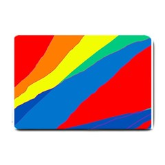 Colorful abstract design Small Doormat