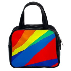 Colorful abstract design Classic Handbags (2 Sides)