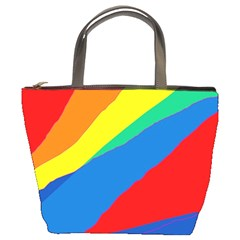 Colorful abstract design Bucket Bags