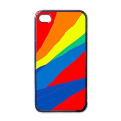 Colorful abstract design Apple iPhone 4 Case (Black)
