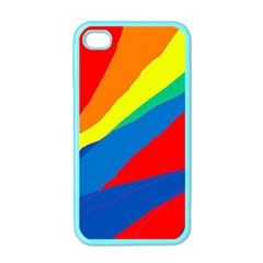 Colorful abstract design Apple iPhone 4 Case (Color)