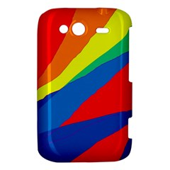 Colorful abstract design HTC Wildfire S A510e Hardshell Case