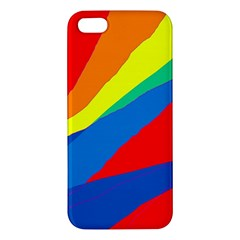Colorful Abstract Design Apple Iphone 5 Premium Hardshell Case