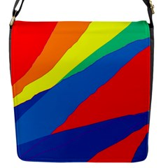 Colorful abstract design Flap Messenger Bag (S)