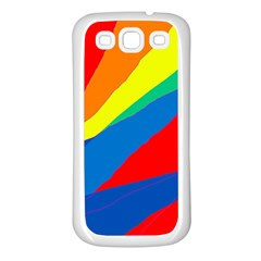 Colorful abstract design Samsung Galaxy S3 Back Case (White)