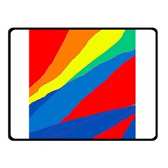 Colorful abstract design Double Sided Fleece Blanket (Small)