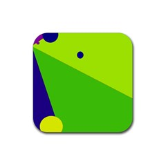 Colorful abstract design Rubber Square Coaster (4 pack)