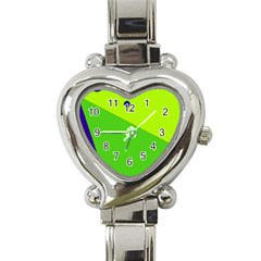 Colorful abstract design Heart Italian Charm Watch