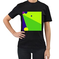 Colorful abstract design Women s T-Shirt (Black) (Two Sided)