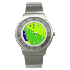 Colorful abstract design Stainless Steel Watch