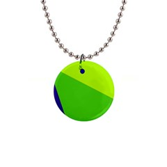 Colorful abstract design Button Necklaces