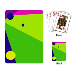 Colorful abstract design Playing Card