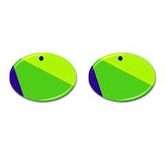Colorful abstract design Cufflinks (Oval)