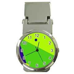 Colorful abstract design Money Clip Watches