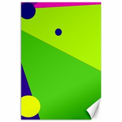 Colorful abstract design Canvas 12  x 18
