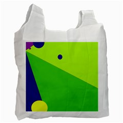 Colorful abstract design Recycle Bag (One Side)