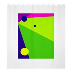 Colorful abstract design Shower Curtain 66  x 72  (Large)