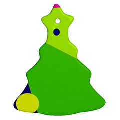 Colorful abstract design Christmas Tree Ornament (2 Sides)