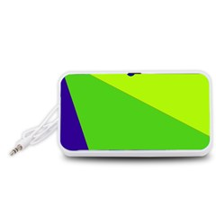 Colorful abstract design Portable Speaker (White)