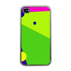 Colorful abstract design Apple iPhone 4 Case (Clear)