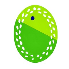 Colorful Abstract Design Ornament (oval Filigree)
