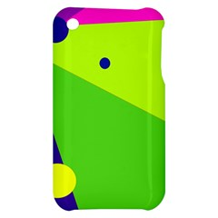 Colorful abstract design Apple iPhone 3G/3GS Hardshell Case