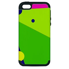 Colorful abstract design Apple iPhone 5 Hardshell Case (PC+Silicone)