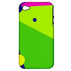Colorful abstract design Apple iPhone 4/4S Hardshell Case (PC+Silicone)