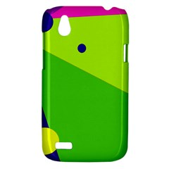 Colorful abstract design HTC Desire V (T328W) Hardshell Case