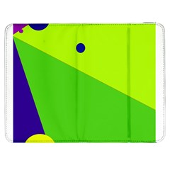 Colorful abstract design Samsung Galaxy Tab 7  P1000 Flip Case