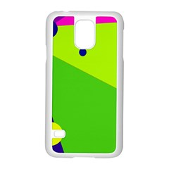 Colorful abstract design Samsung Galaxy S5 Case (White)