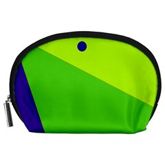 Colorful abstract design Accessory Pouches (Large)