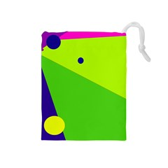 Colorful abstract design Drawstring Pouches (Medium)