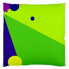 Colorful abstract design Large Flano Cushion Case (One Side)