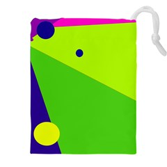 Colorful abstract design Drawstring Pouches (XXL)