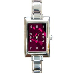 Abstract design Rectangle Italian Charm Watch