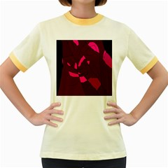 Abstract design Women s Fitted Ringer T-Shirts