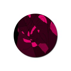 Abstract design Rubber Coaster (Round)