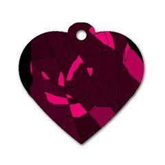 Abstract design Dog Tag Heart (One Side)