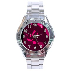 Abstract design Stainless Steel Analogue Watch