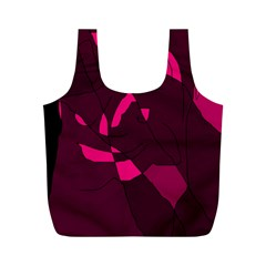 Abstract design Full Print Recycle Bags (M)