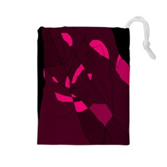 Abstract design Drawstring Pouches (Large)