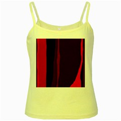 Pink and black lines Yellow Spaghetti Tank