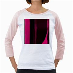 Pink and black lines Girly Raglans