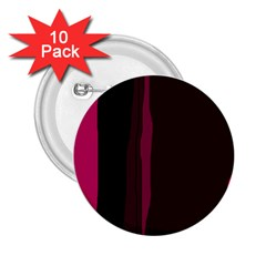 Pink and black lines 2.25  Buttons (10 pack)