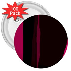 Pink and black lines 3  Buttons (100 pack)