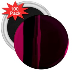 Pink and black lines 3  Magnets (100 pack)
