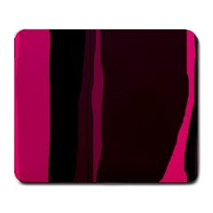 Pink and black lines Large Mousepads